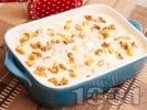 Рецепта Домашна бишкотена торта с маскарпоне и орехи